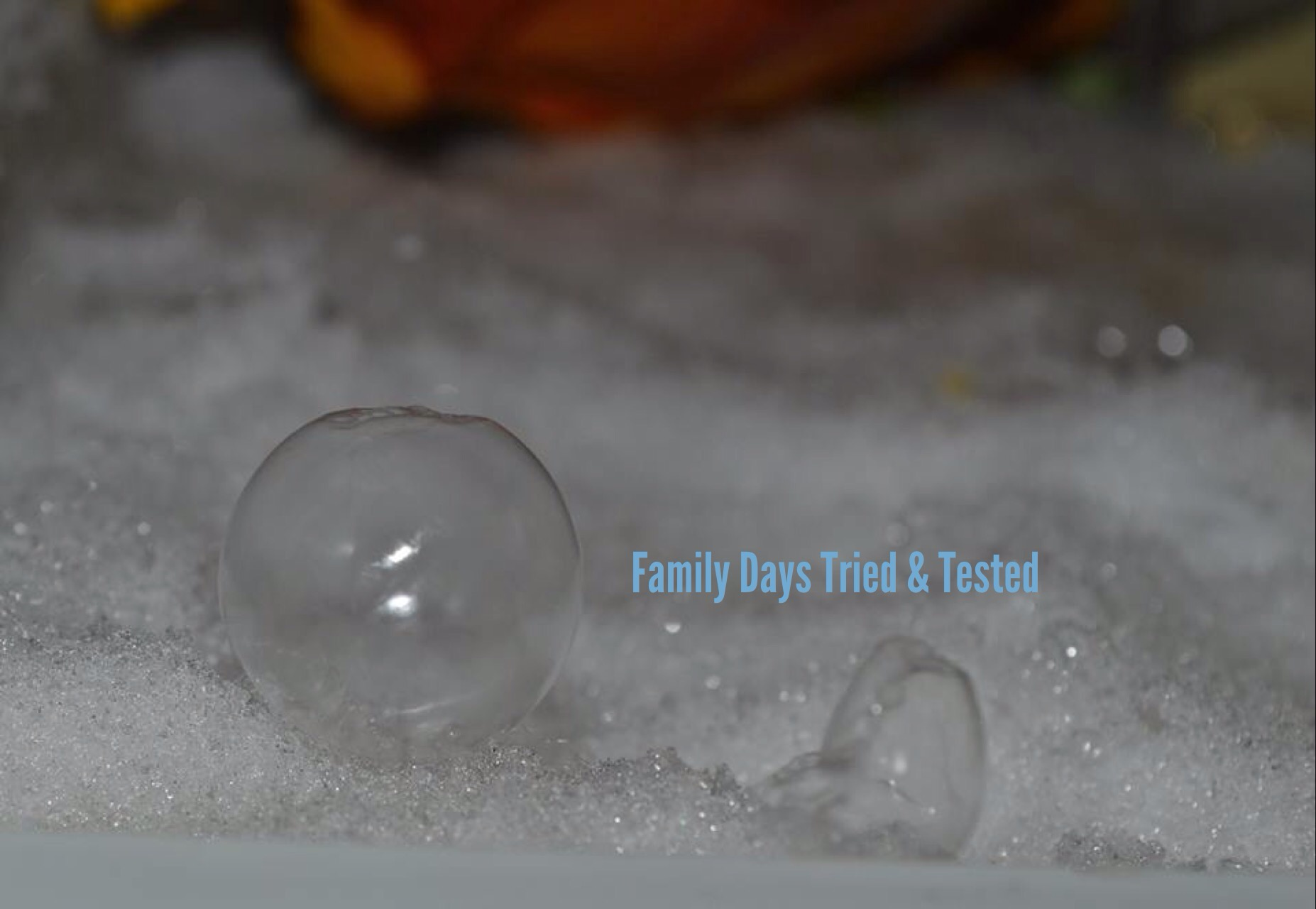 Freezing bubbles in the freezer