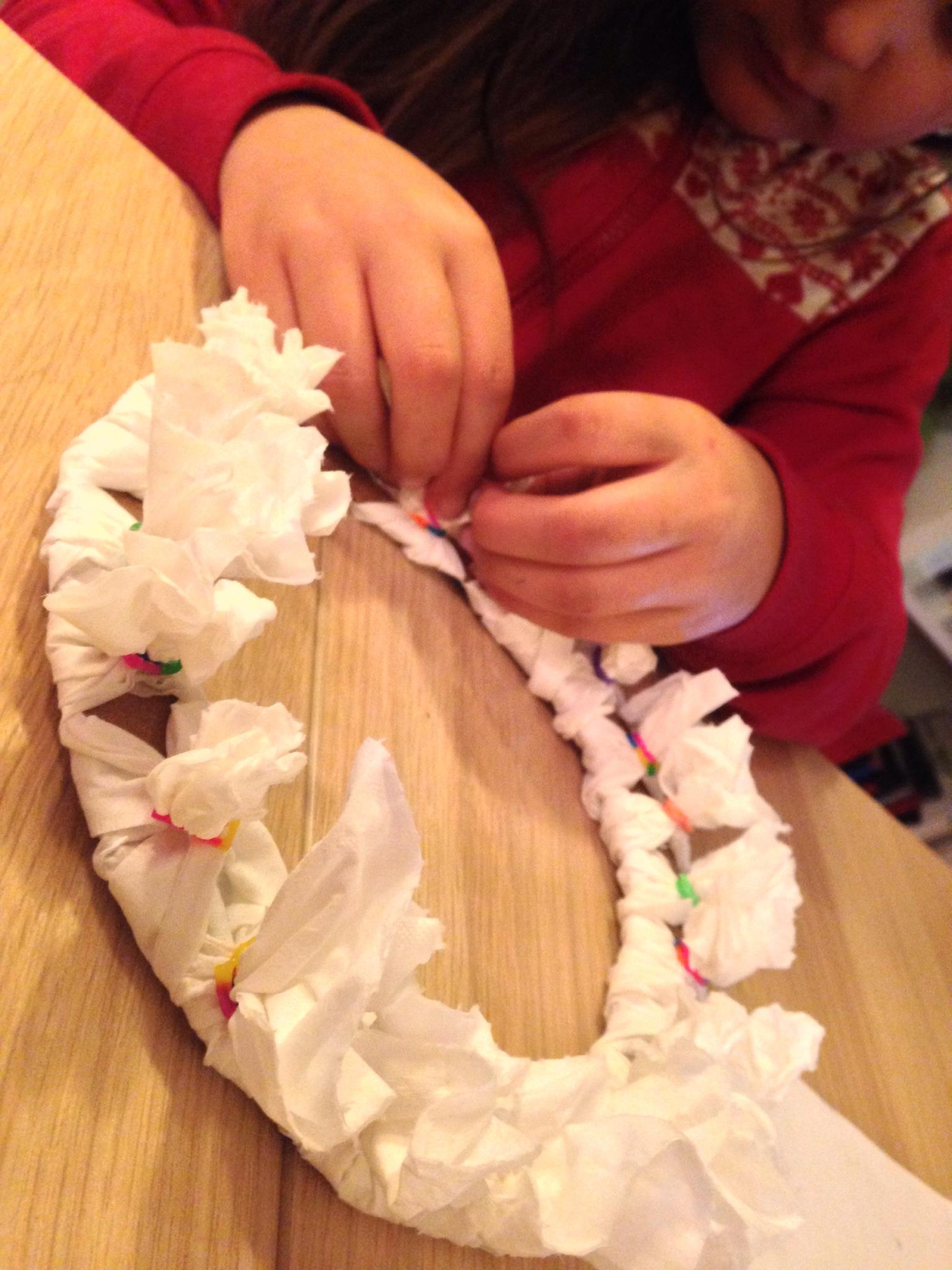 Toilet Tissue Christmas Wreath