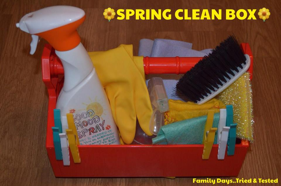 Easter & Spring Ideas - Spring Cleaning Box for kids