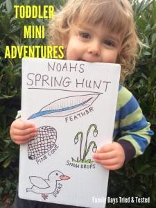 Easter & Spring Ideas - Toddler Spring Hunt