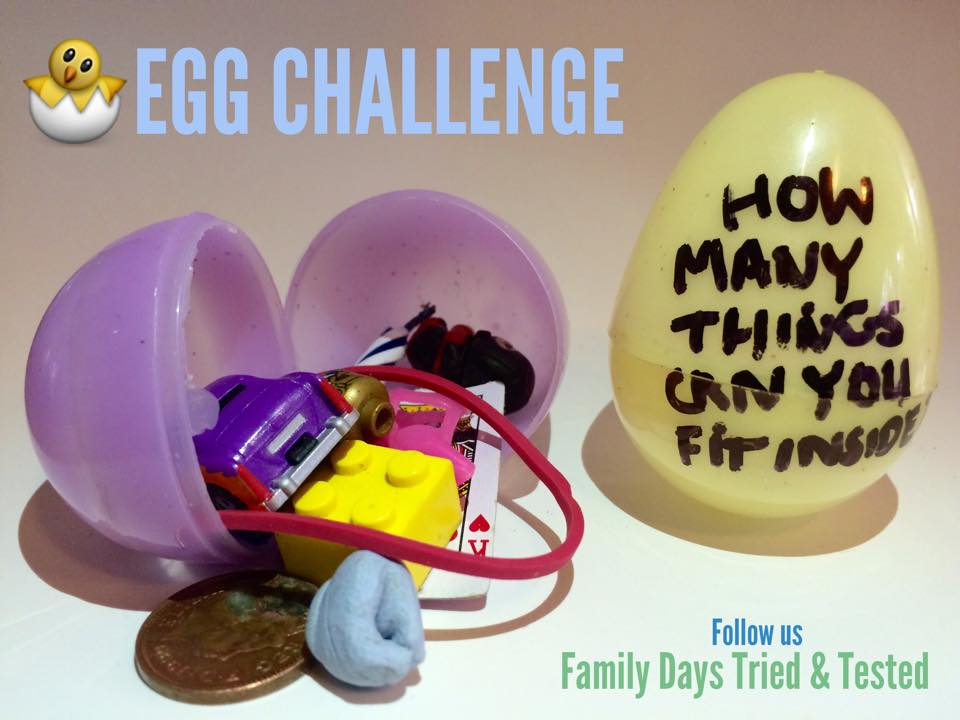 Easter & Spring Ideas - plastic egg challenge