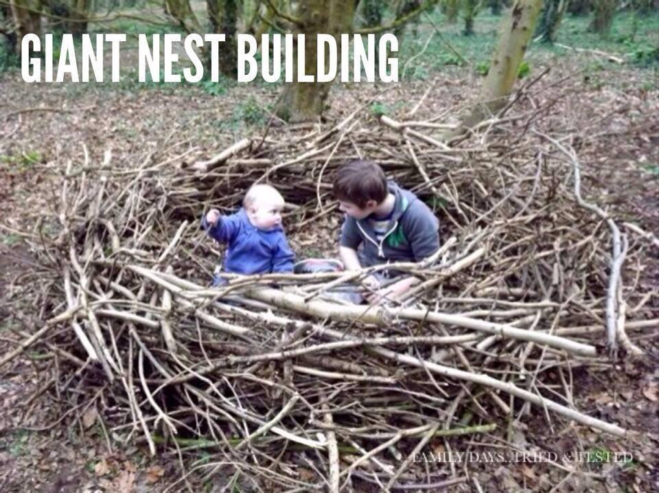 Easter & Spring Ideas - giant nest building