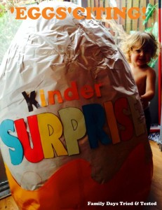 Easter & Spring Ideas - huge Kinder egg