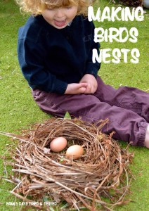Easter & Spring Ideas - making bird's nests