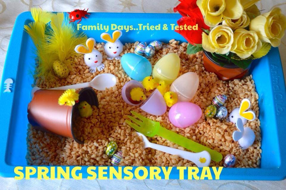 Easter & Spring Ideas = Spring Sensory Tray