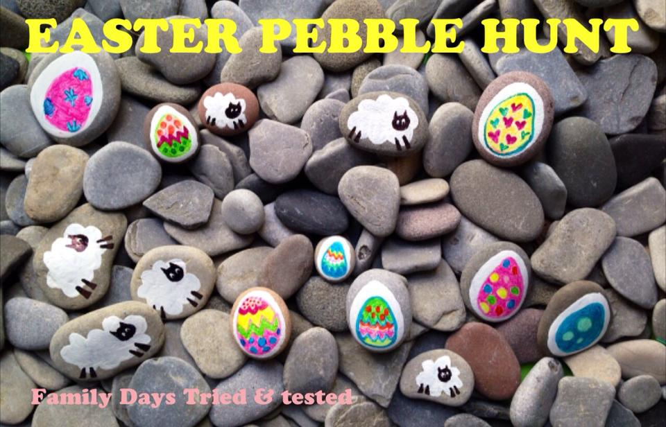 Easter & Spring Ideas - Easter pebble hunt