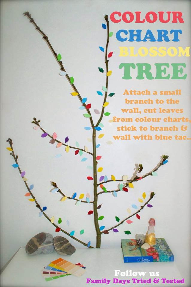 Easter & Spring Ideas - Colour chart blossom tree