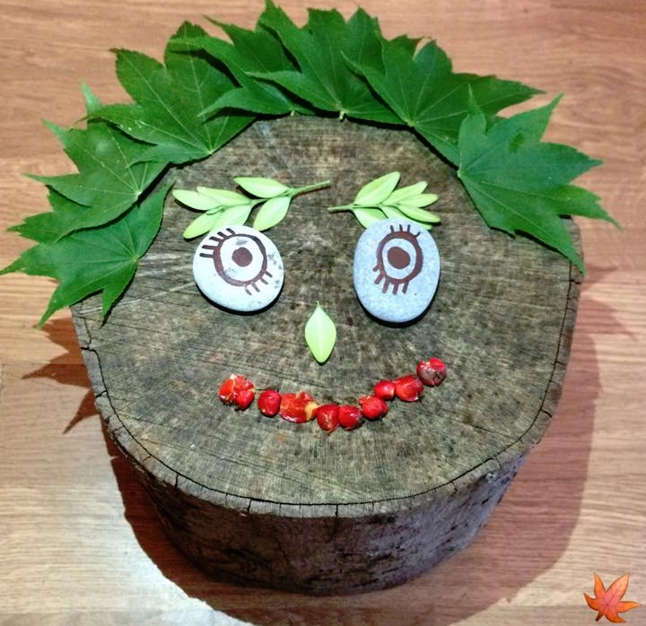 Easter & Spring Ideas - tree stump face