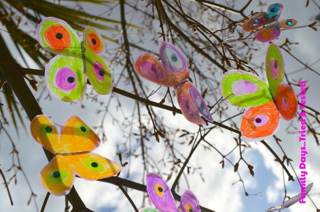 Easter & Spring Ideas - Milk Carton Butterflies