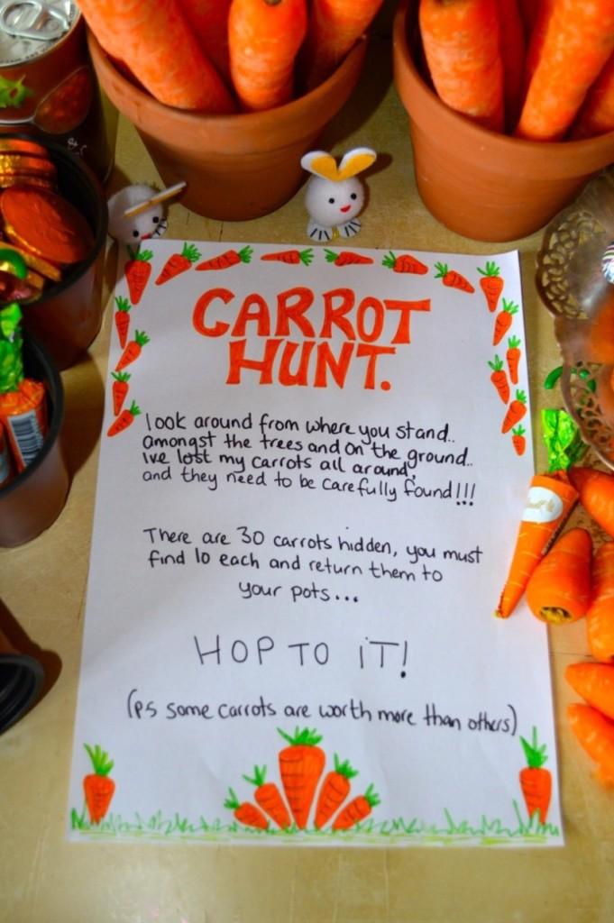 Easter & Spring Ideas - Carrot Hunt