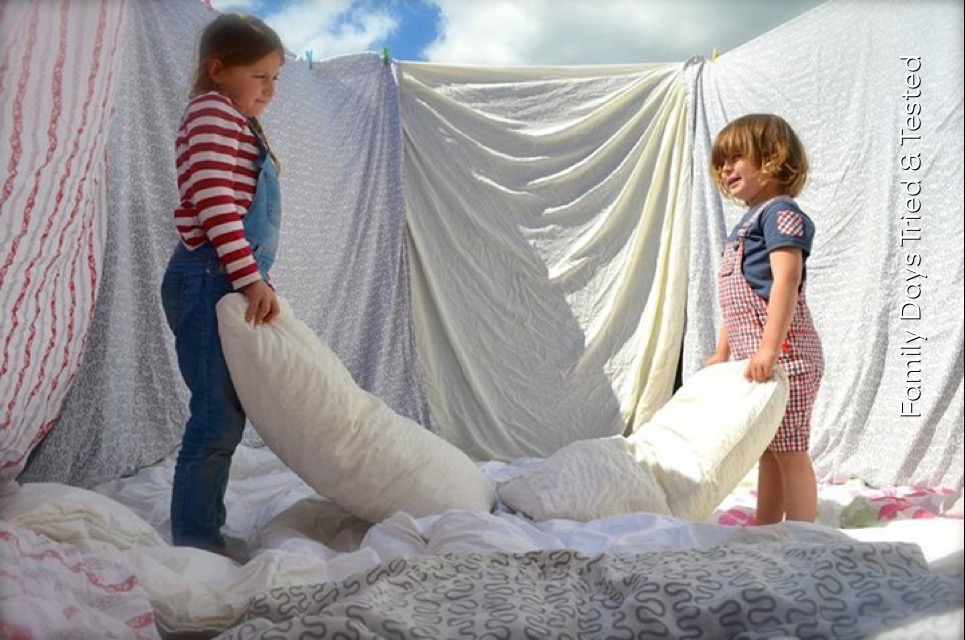 Trampoline pillow fight