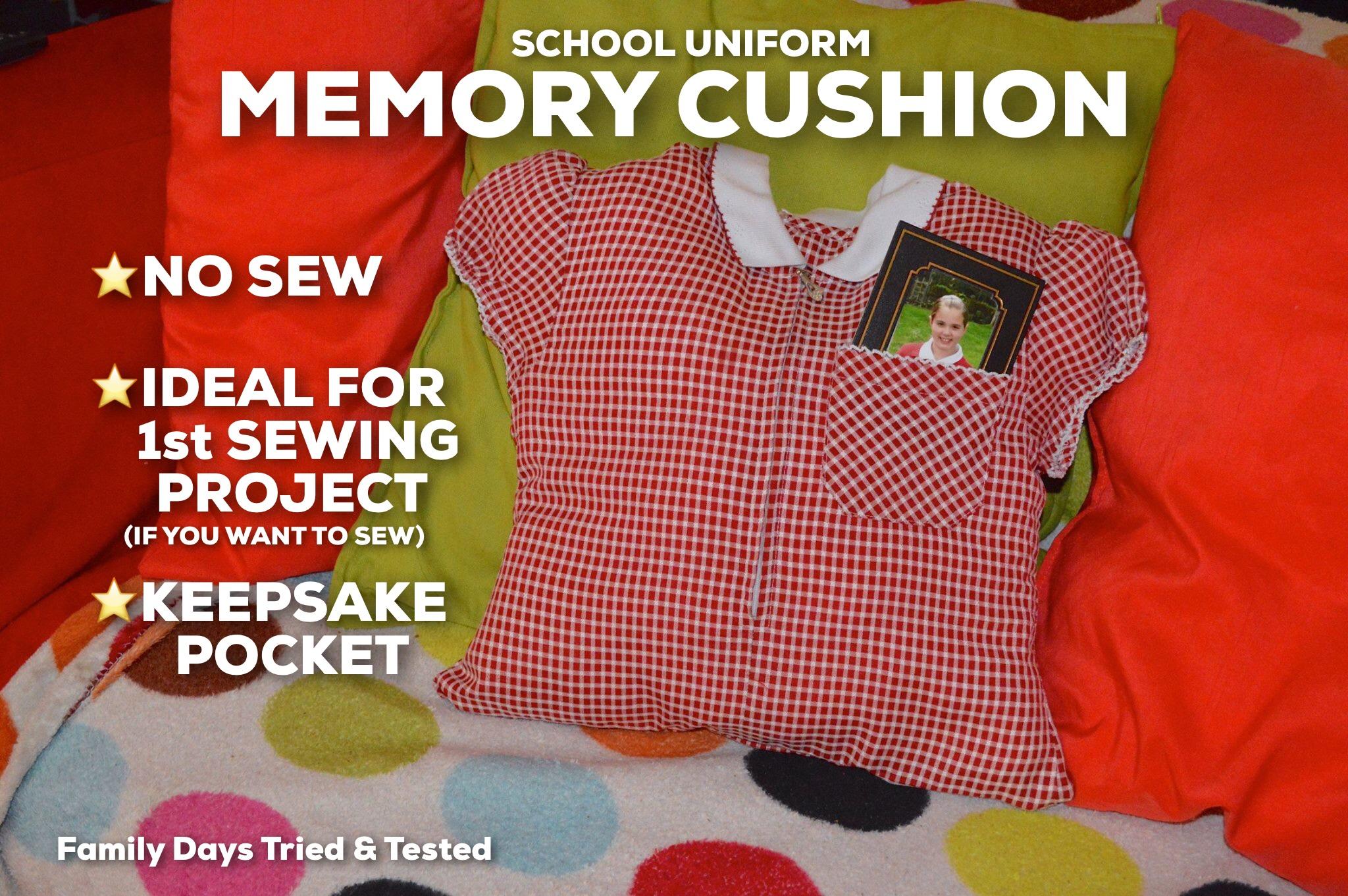 School Uniform Memory Cushion