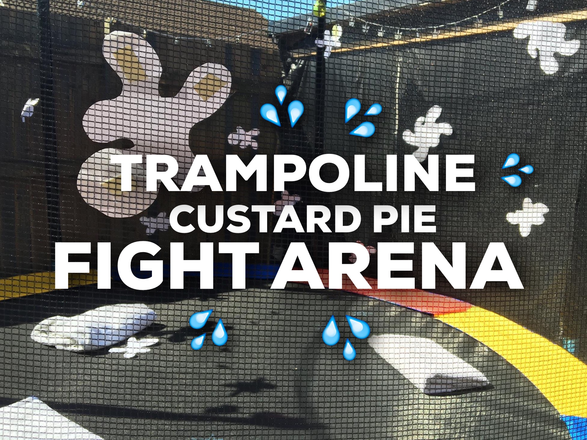 Trampoline Custard Pie Fight Arena
