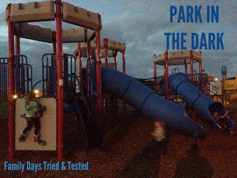 Friday night family fun ideas - park in the dark