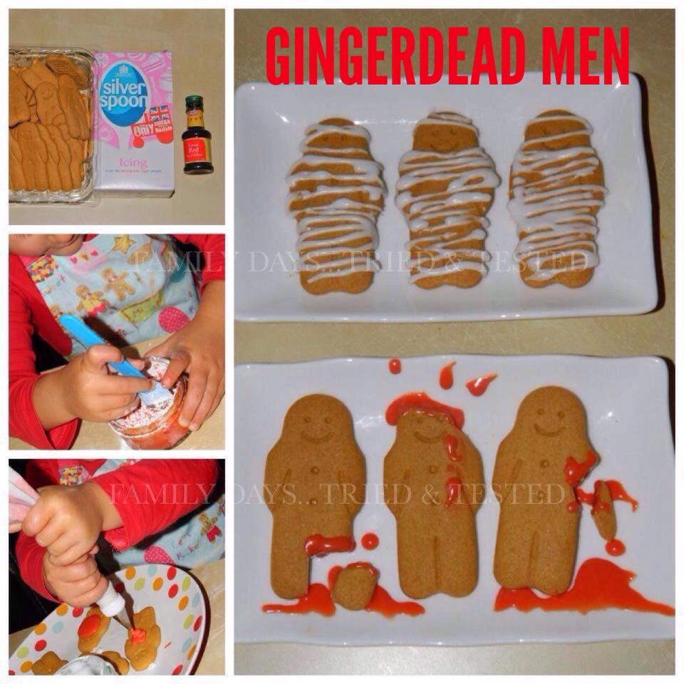 Halloween activities for kids - gingerdead men