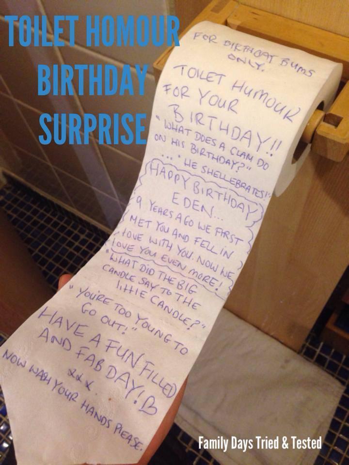 Birthday ideas - TOILET HUMOUR BIRTHDAY ROLL