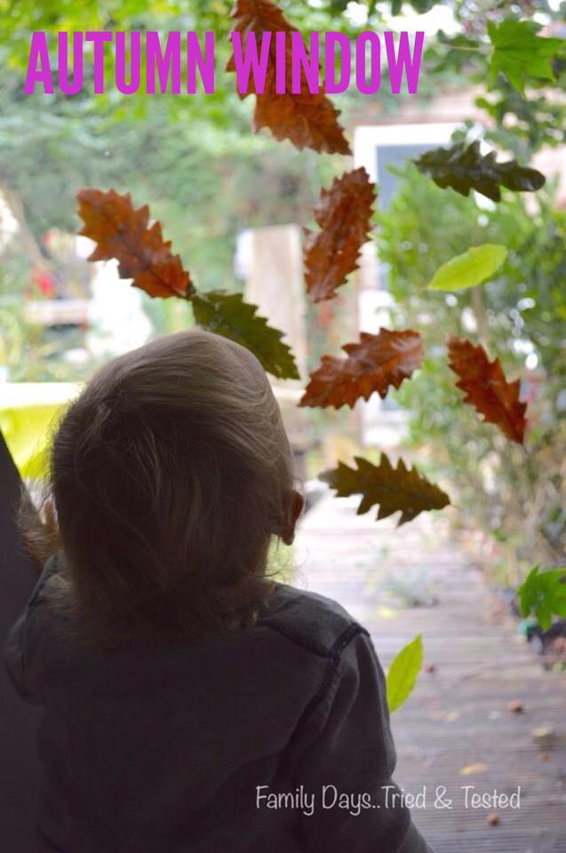 Autumn Activities for Kids - autumn window
