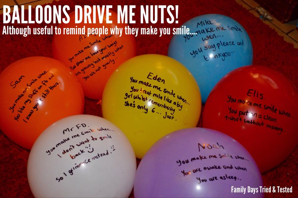 Birthday ideas - message balloons