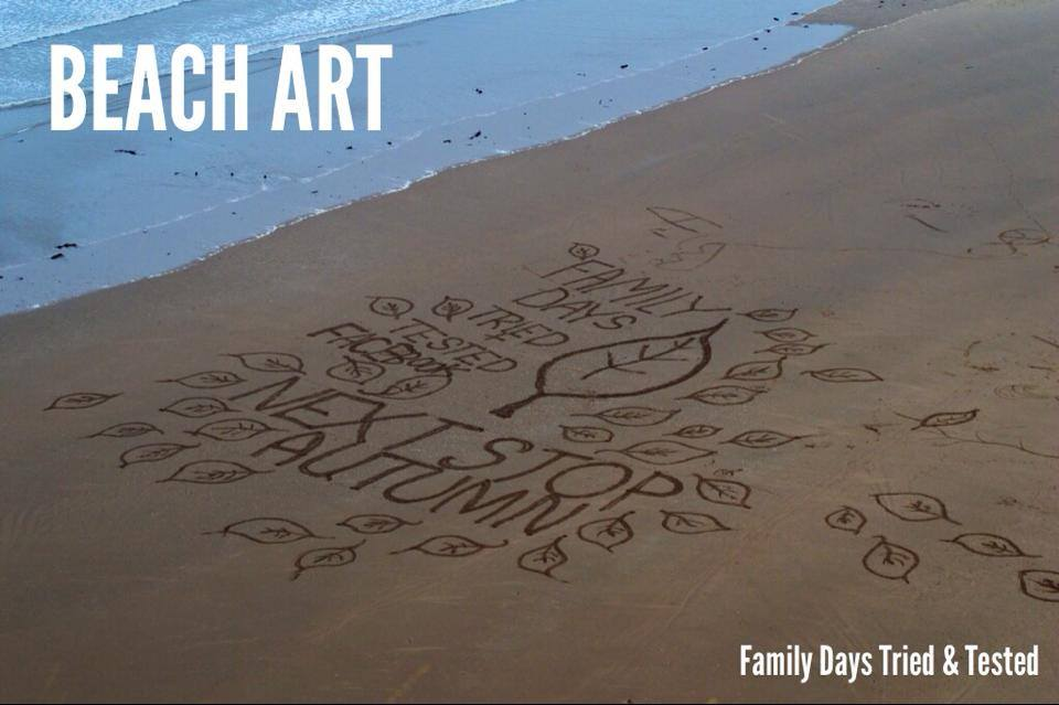 Autumn Activities for Kids - beach art