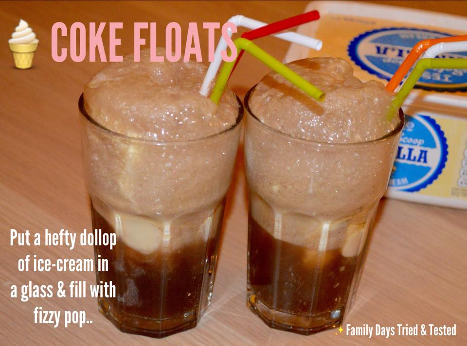 Friday Night family fun ideas - Coke floats