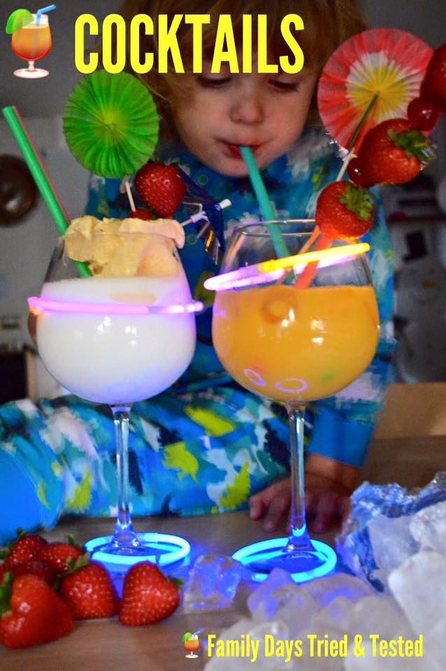 Friday night family fun ideas - non-alcoholic cocktails