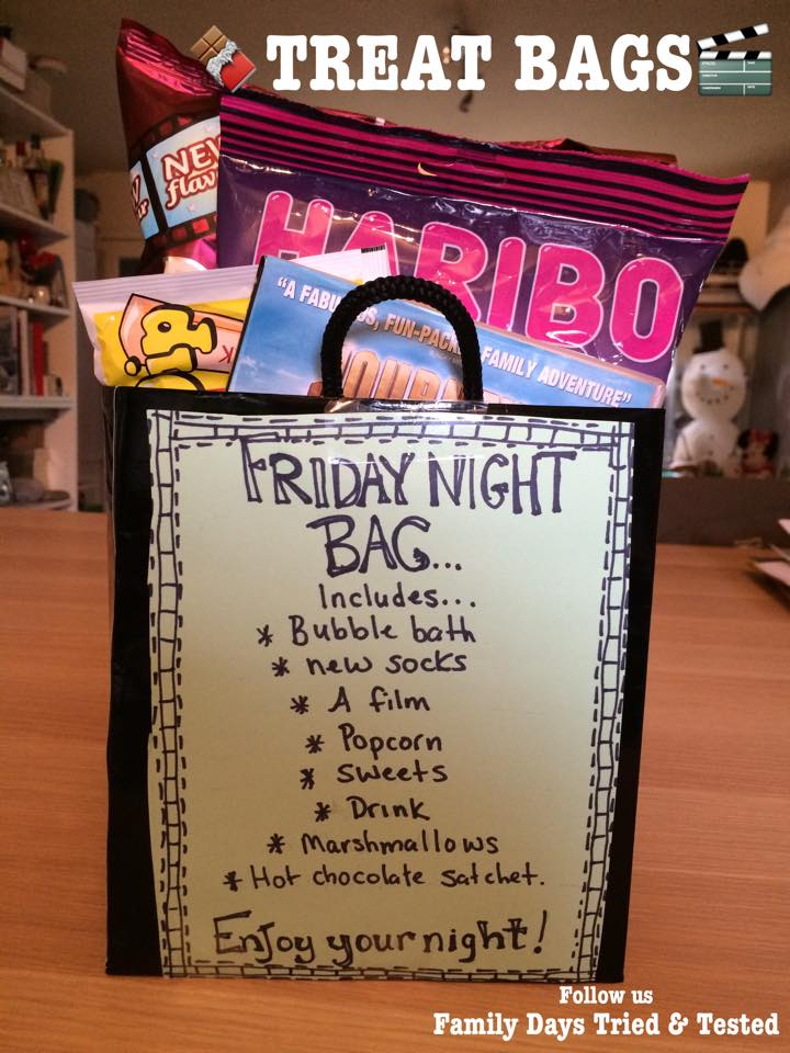 Friday Night family fun ideas - treat bags