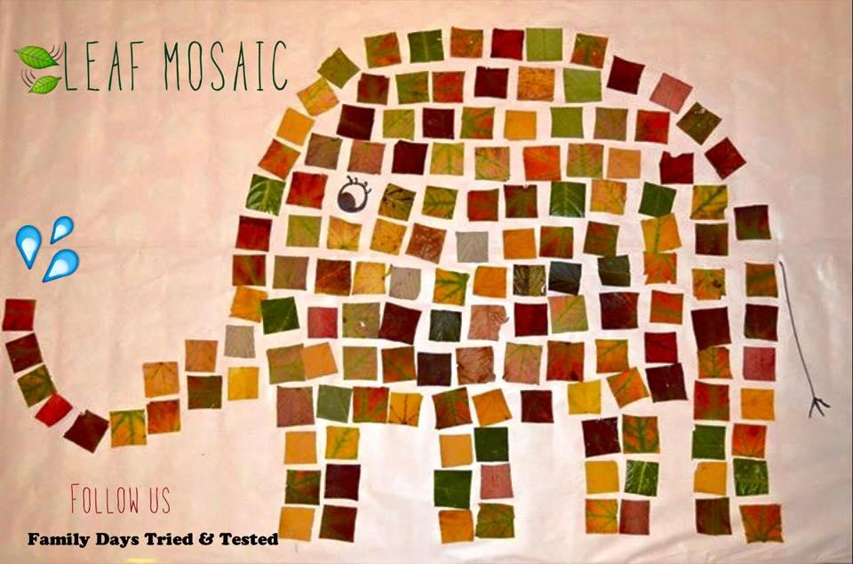 Autumn Activities for Kids - leaf mosaics