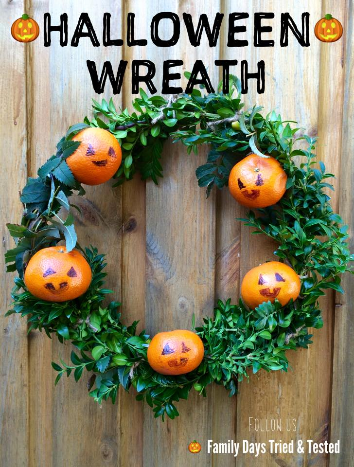 Halloween activities for kids - Halloween Wreath