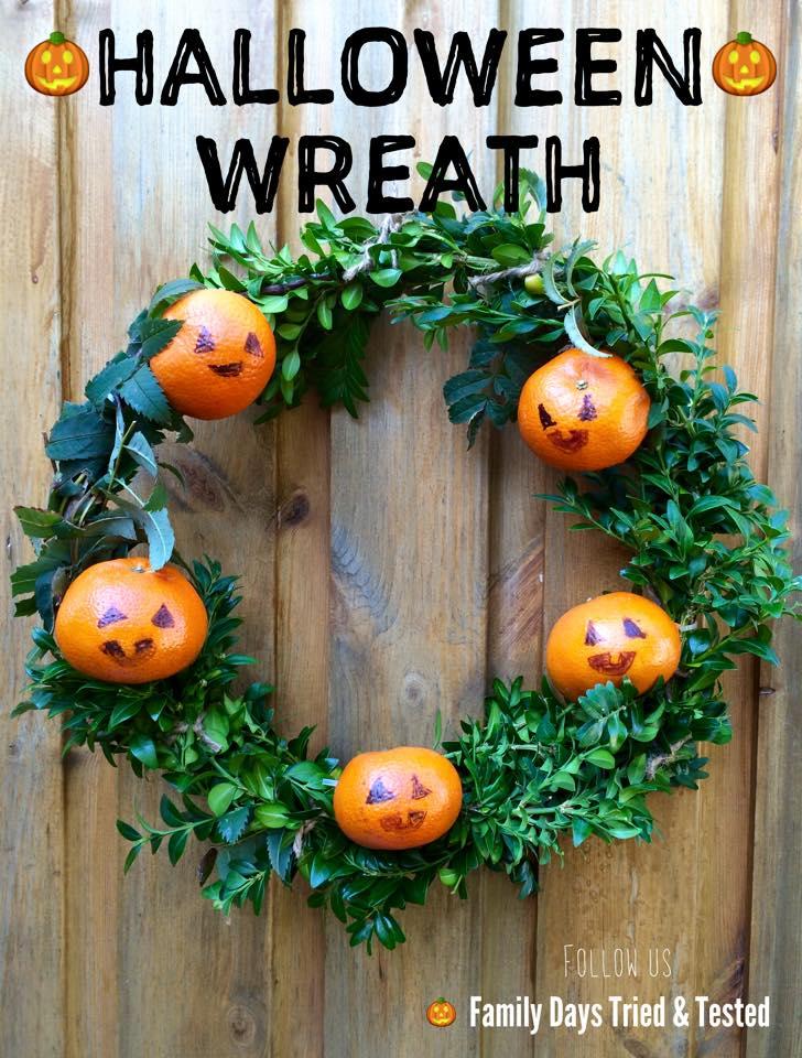 Halloween activities for kids - Halloween Wreath