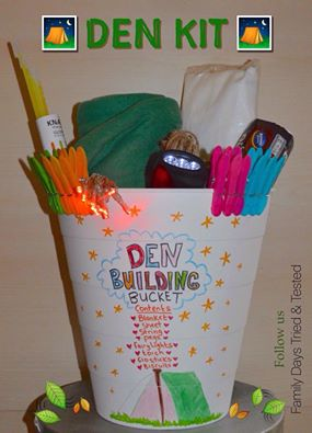 Birthday ideas - den building kit
