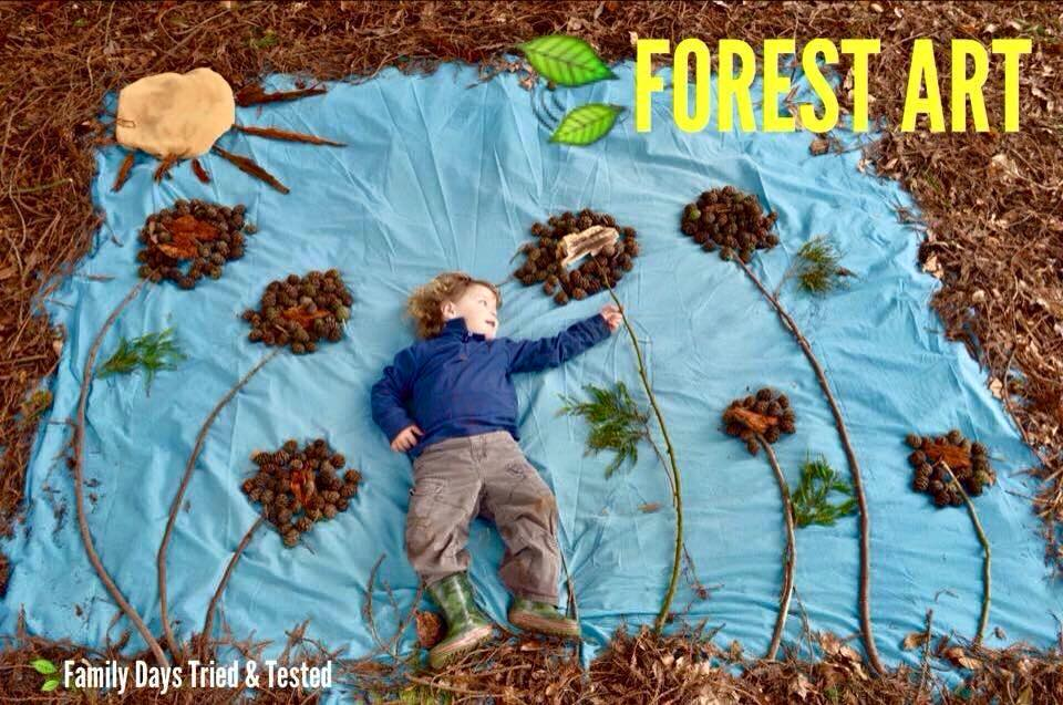 Autumn Activities for Kids - forest art