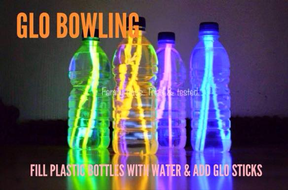 Friday night family fun ideas - glow in the dark bowling