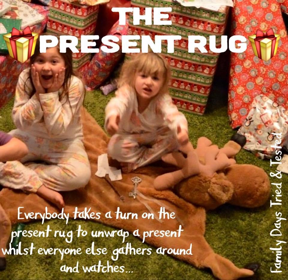 Christmas present rug