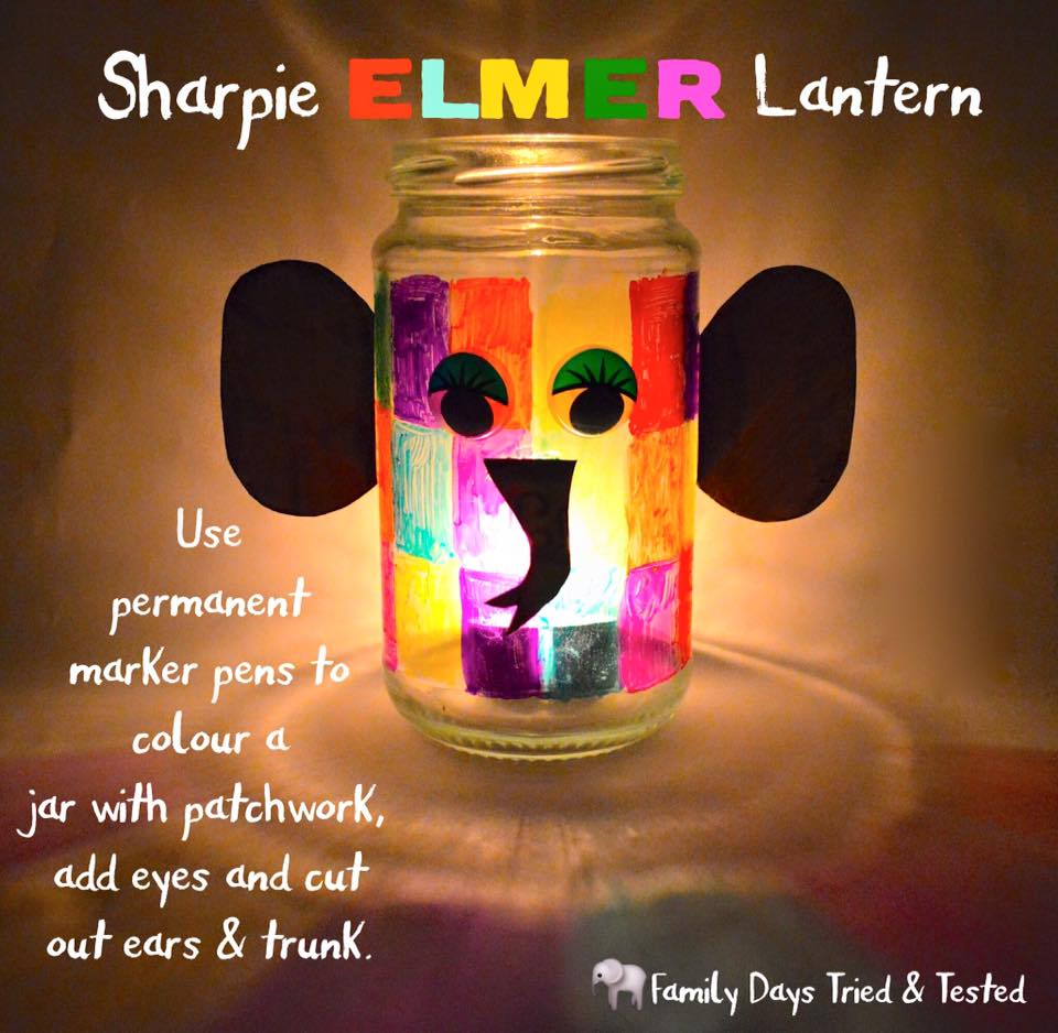 Friday night family fun ideas - Elmer lantern