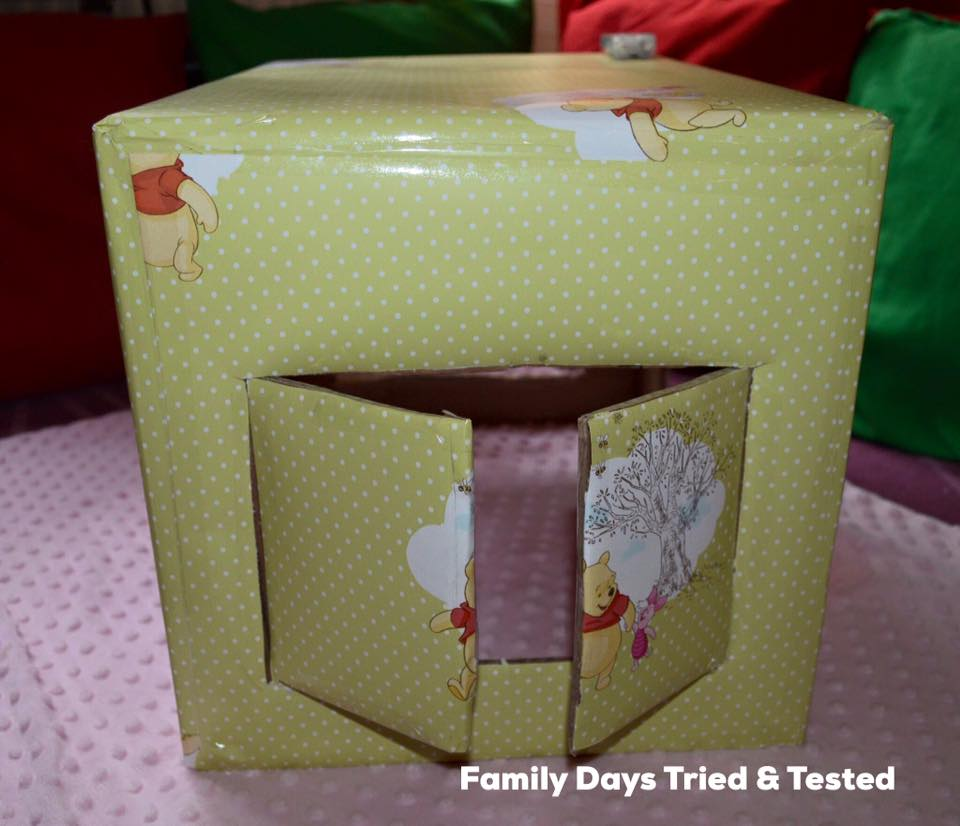 Baby Sensory Den - covered in wrapping paper
