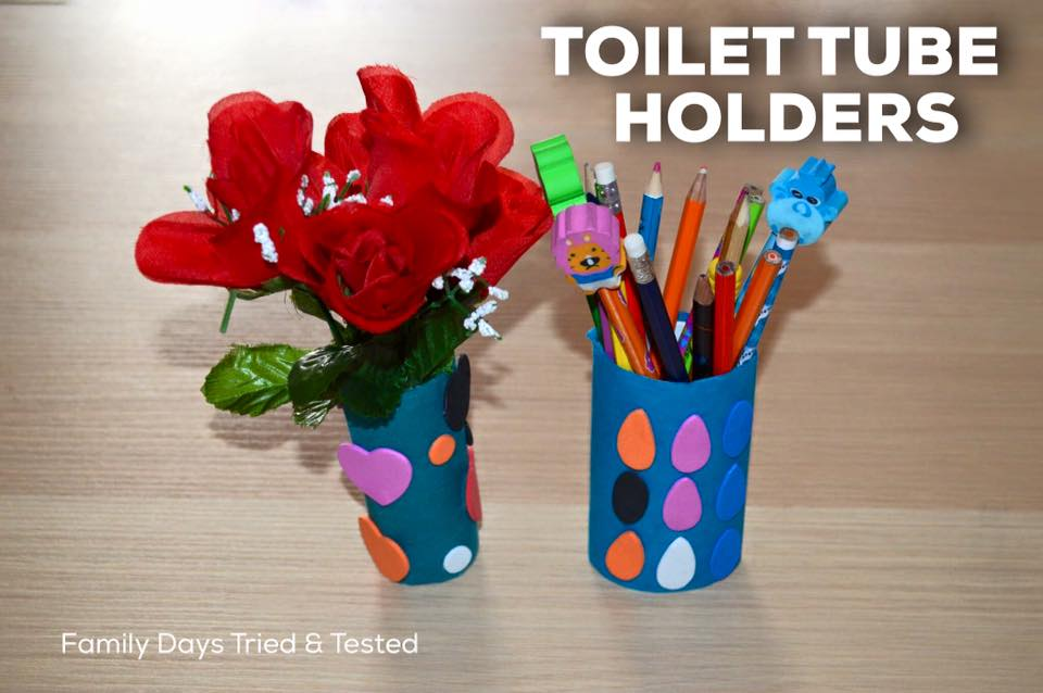 Friday night family fun ideas - toilet tube holders