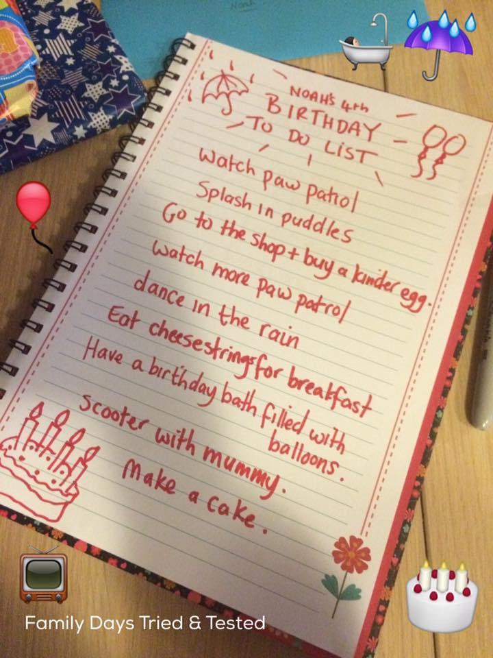 Birthday ideas - PRESENCE NOT PRESENTS