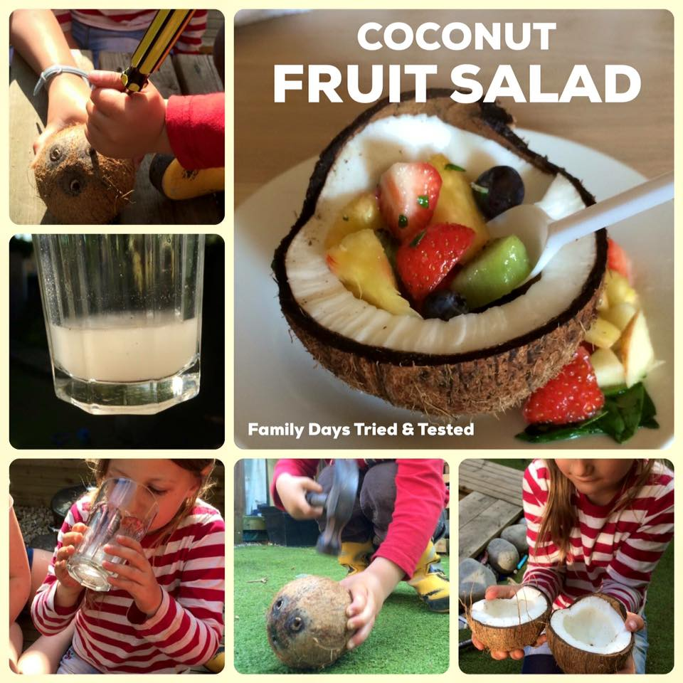 Friday night family fun ideas - coconut fruit salad