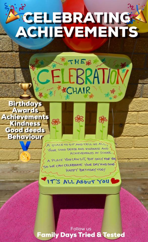 Birthday ideas - birthday chair
