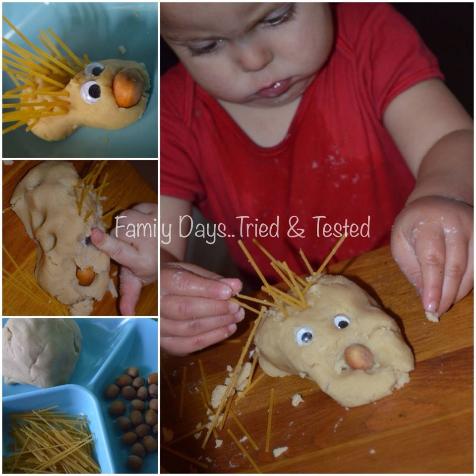 Halloween for Toddlers - Playdough Hedgehogs