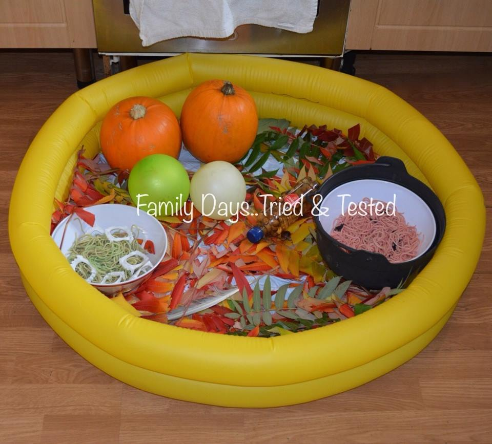 Halloween for Toddlers - Halloween Sensory Pool