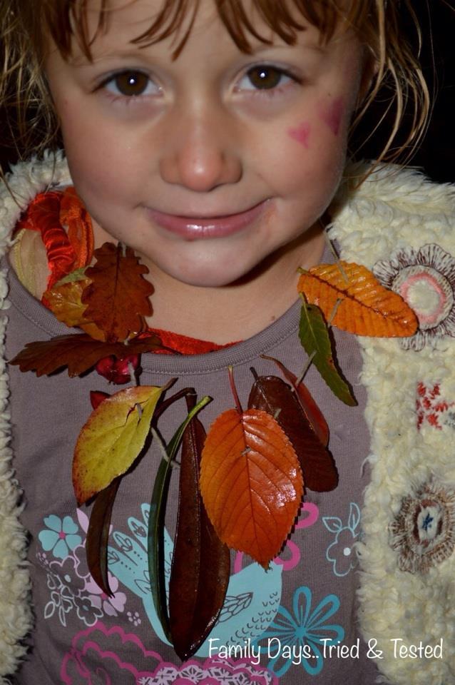 Autumn Activities for Kids - autumn necklaces