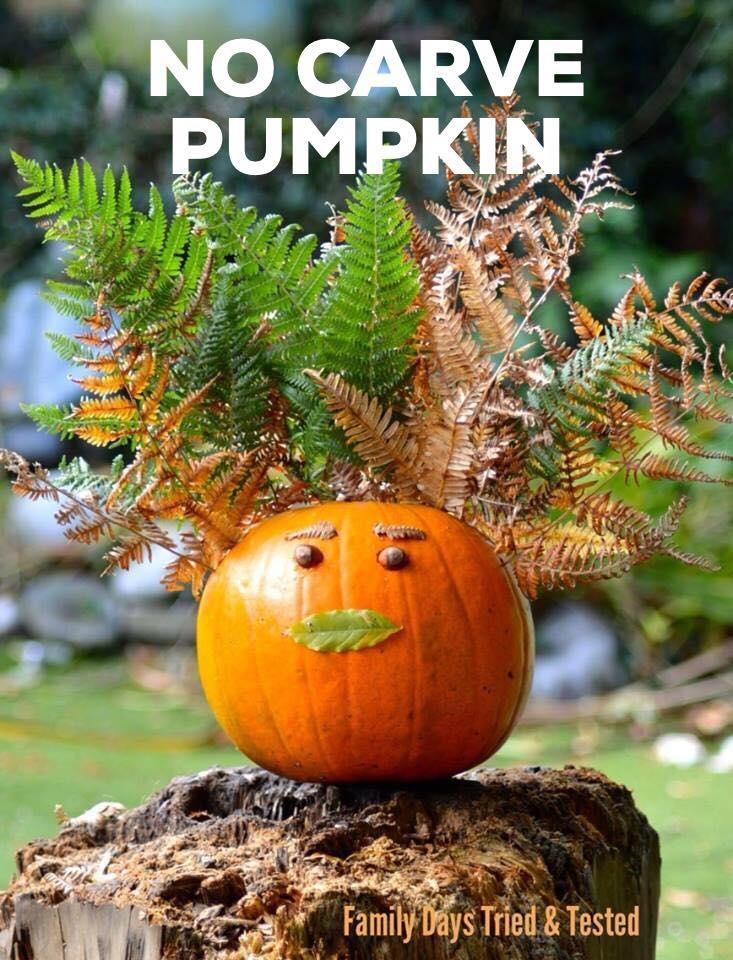 Halloween activities for kids - no carve pumpkin