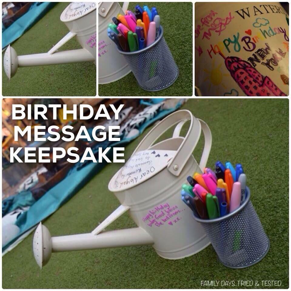 Birthday ideas - BIRTHDAY MESSAGE KEEPSAKE