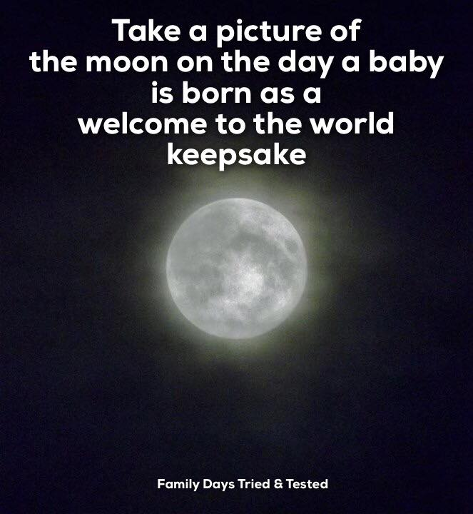 Birthday ideas - moon photo