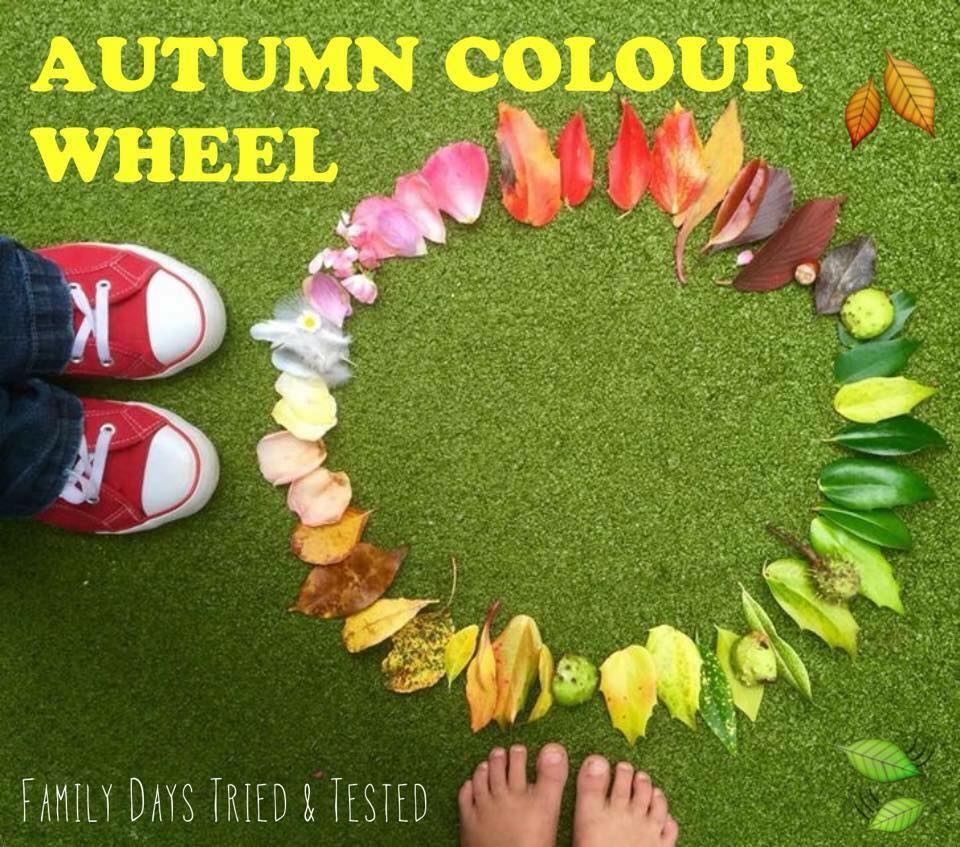 Autumn Activities for Kids - autumn colour wheel
