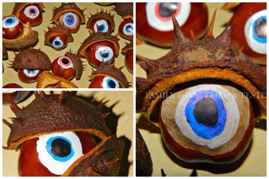 Spooky conker eyeballs