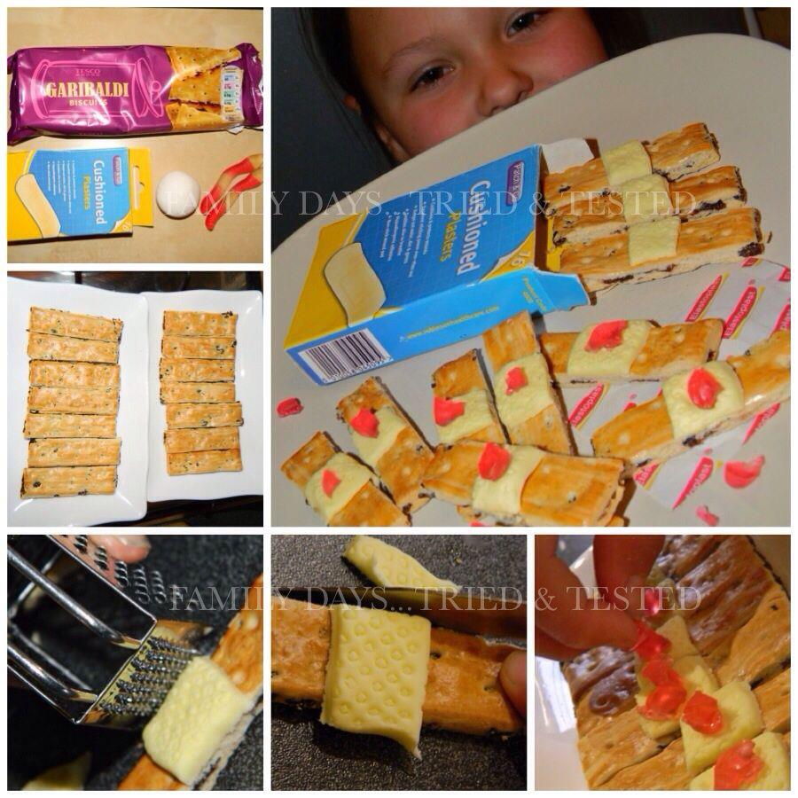 Halloween activities for kids - used plaster biscuits
