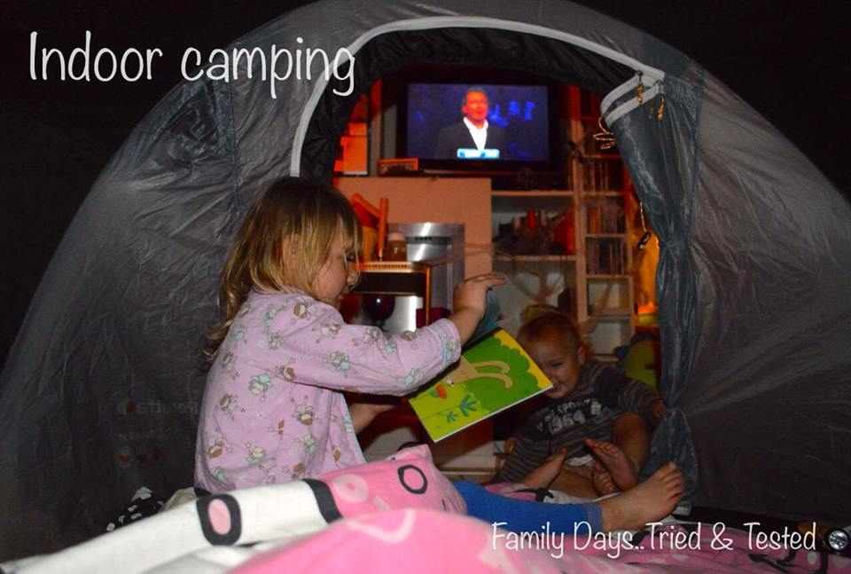Friday Night family fun ideas - indoor camping