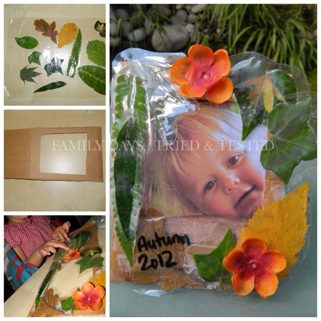 Autumn Activities for Kids - autumn picture frame
